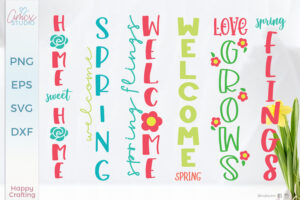 Spring Porch Sign SVG